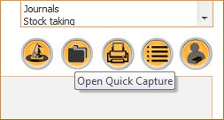 Click the image for a view of: New Quick Capture feature available