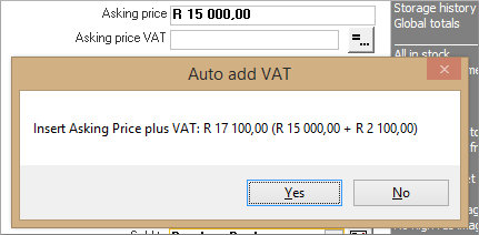 Click the image for a view of: Automatically calculate adding / removing VAT